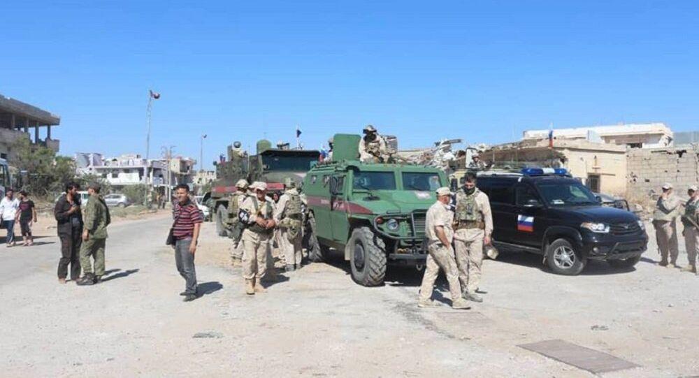 درعا - الشرطة العسكرية الروسية في بلدة النعيمة