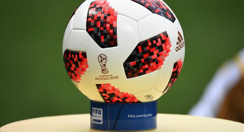 كرة نهائي كأس العالم بين فرنسا وكرواتيا