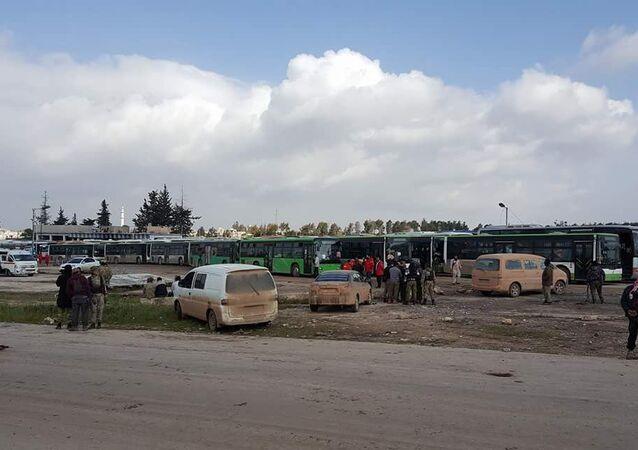 تحضيرات لنقل أهالي بلدات كفرية والفوعة في ريف إدلب وفك الحصار