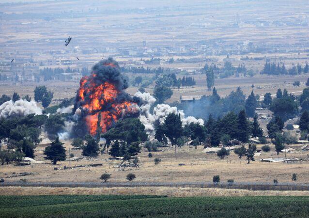 انفجار في القنيطرة على الحدود السورية الإسرائيلية، سوريا 22 يوليو/ تموز 2018