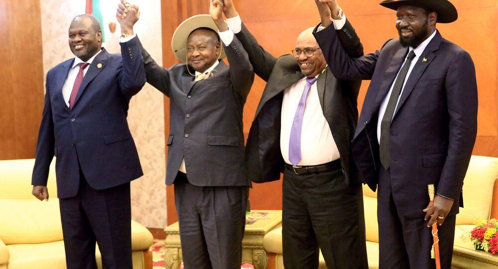 زعماء من جنوب السودان وأفريقيا في اجتماع للسلام بين الأفرقاء