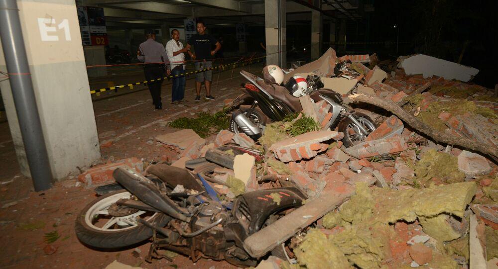زلزال قوي يضرب جزيرة لومبوك في إندونيسيا 6 أغسطس/ آب 2018