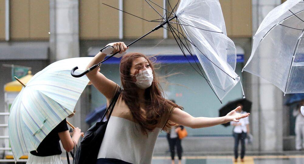 رياح قوية وأمطار في طوكيو، اليابان 8 أغسطس/ آب 2018
