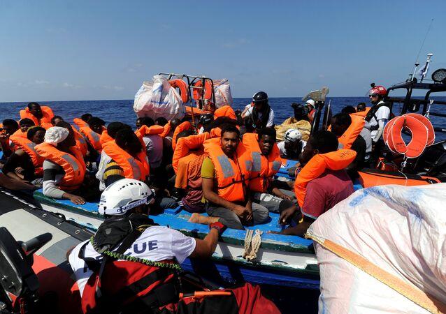 مهاجرين قبالة سواحل ليبيا، 10  أغسطس/ آب 2018