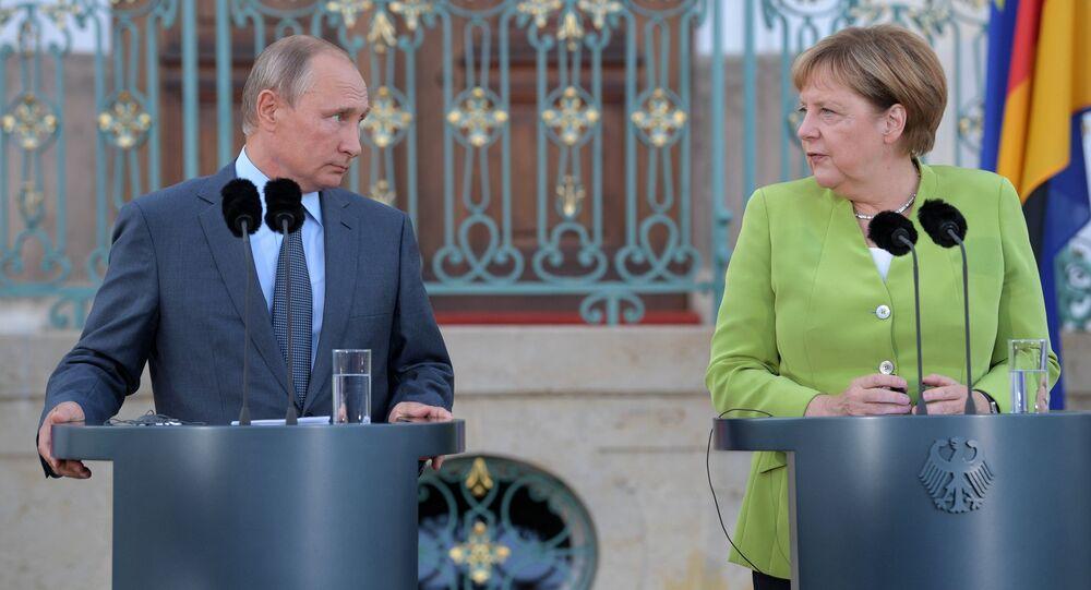الرئيس الروسي فلاديمير بوتين في زيارة عمل إلى ألمانيا