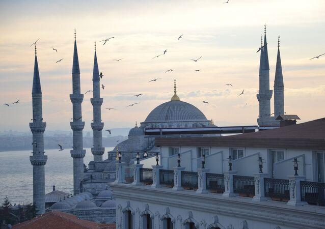 جامع السلطان أحمد (أو الجامع الأزرق) في اسطنبول، تركيا