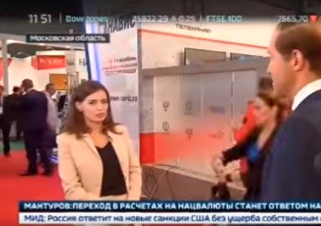 مراسلة روسية فقدت وعيها على الهواء مباشرة