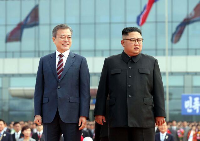 رئيس كوريا الجنوبية مون جا إن يصل بيونغ يانغ للمرة الثالثة للقاء زعيم كوريا الشمالية كيم جونغ أون، 18 سبتمبر/ أيلول 2018