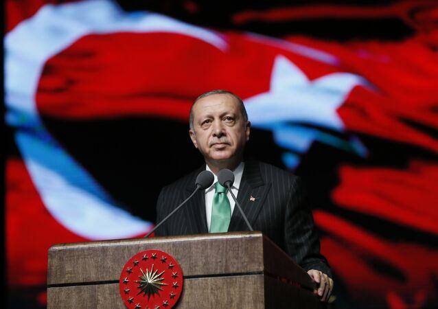 رئيس تركيا رجب طيب أردوغان يلقي خطاب في أنقرة، تركيا 19 سبتمبر/ أيلول 2018