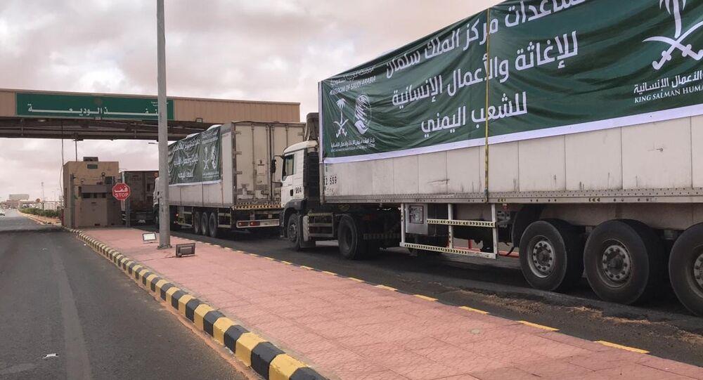 قوافل مركز الملك سلمان للإغاثة تتجه إلى اليمن