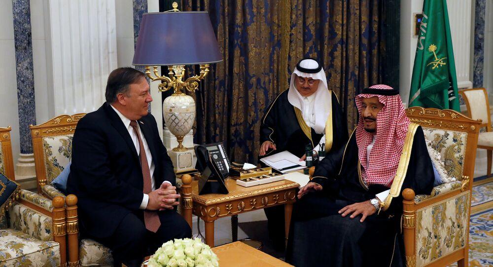 العاهل السعودي الملك سلمان بن عبدالعزيز يلتقي اليوم الثلاثاء، 16 أكتوبر/تشرين الأول، وزير الخارجية الأمريكي مايك بومبيو، في الرياض