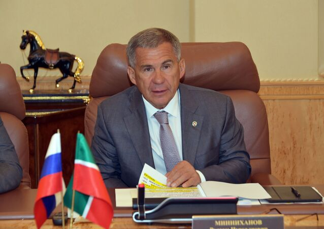 رئيس جمهورية تتارستان التابعة للاتحاد الفيدرالي الروسي رستم مينيخانوف