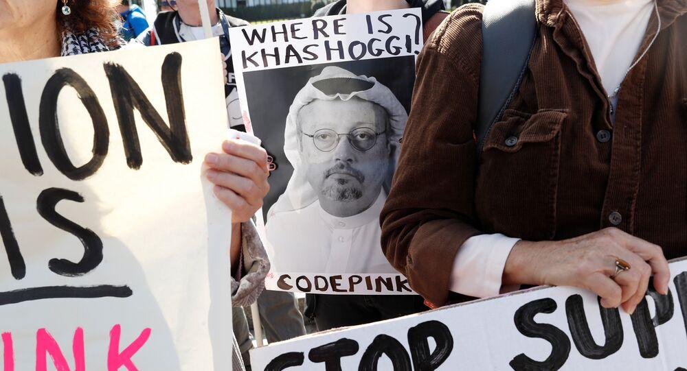 تظاهرة أمام البيت الأبيض تطالب بفرض عقوبات فورية على السعودية بسبب خاشقجي