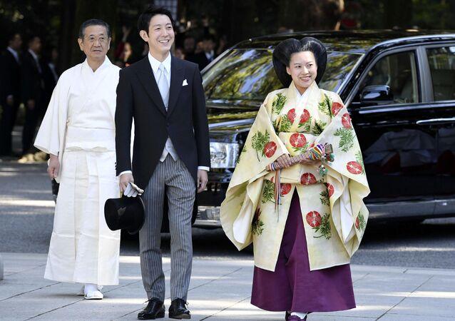 زواج الأميرة اليابانية أياكو من كي موريا في طوكيو