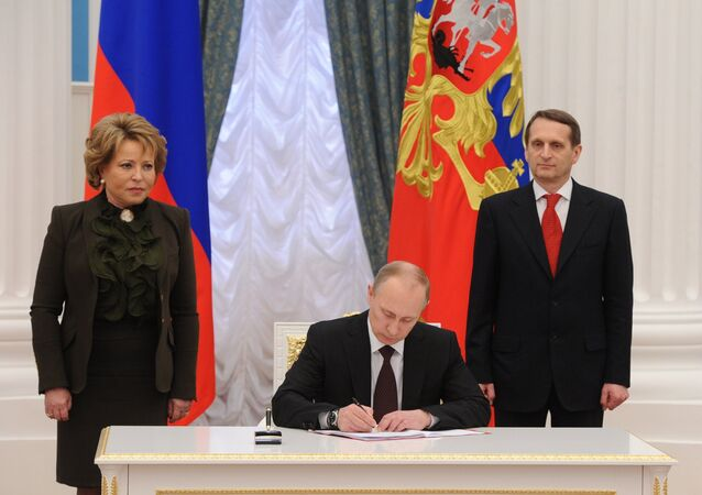 الرئيس الروسي فلاديمير بوتين يوقع مرسوما