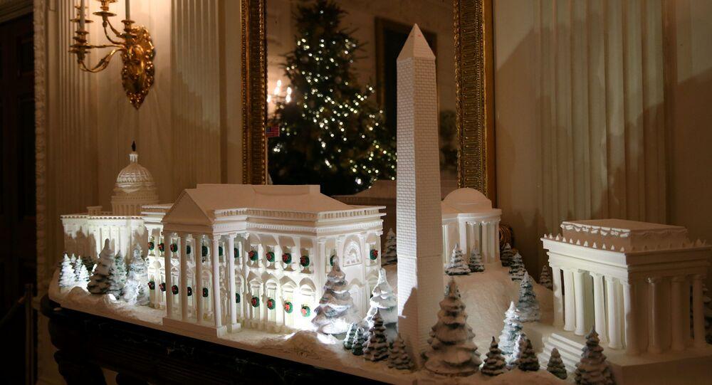 زينة البيت الأبيض بمناسبة أعياد الميلاد المجيد ورأس السنة، واشنطن 26 نوفمبر/ تشرين الثاني 2018