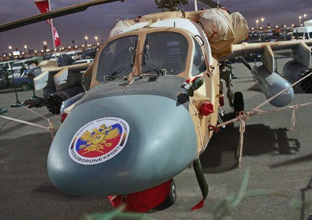 المروحية الروسية كا 52 في معرض إيديكس 2018