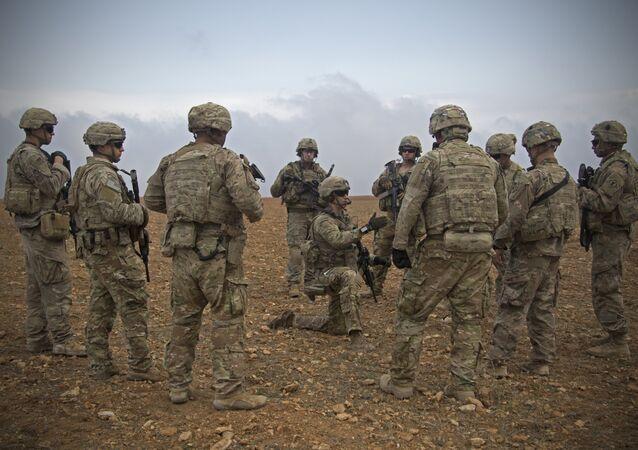 صورة أرشيفية - قوات الجيش الأمريكي في منبج، سوريا 7 نوفمبر/ تشرين الثاني 2018