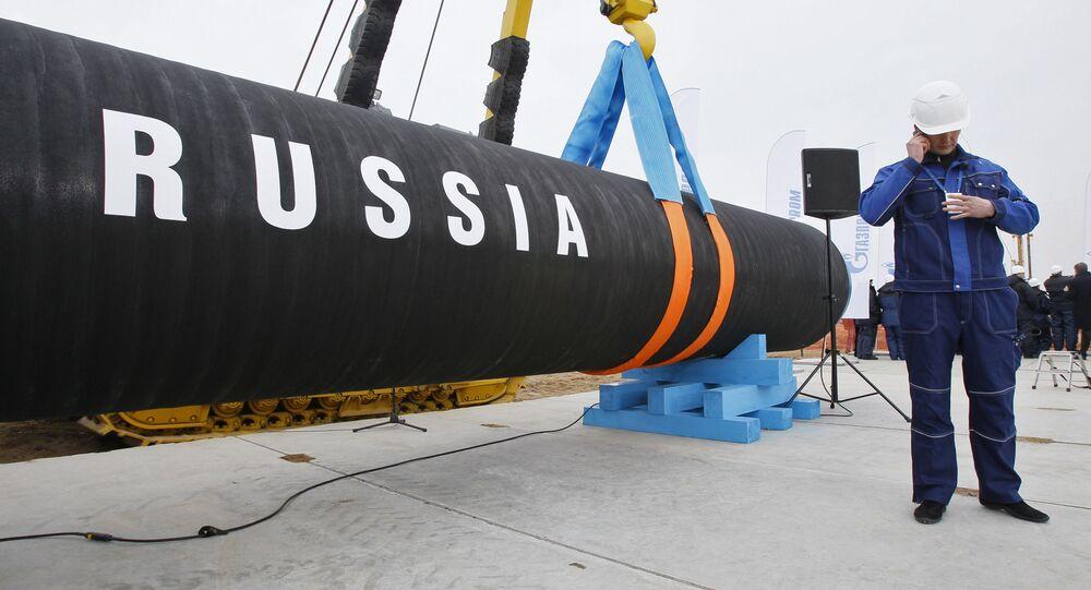 إنشاء خط أنابيب لنقل الغاز من روسيا إلى أوروبا