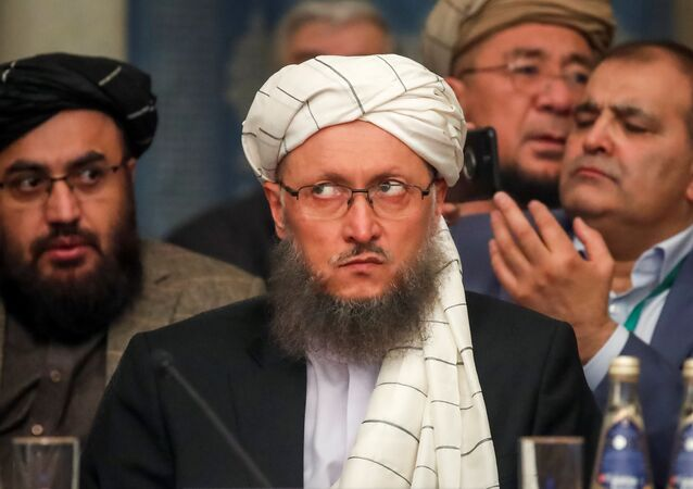 محادثات و مفاوضات بين طالبان والمعارضة الأفغانية (أفغانستان) في موسكو 5 فبراير/ شباط 2019 - نائب رئيس حركة طالبان عبدالسلام حنفي