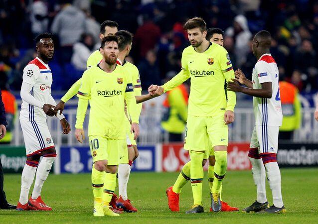 مباراة برشلونة وليون دوري أبطال أوروبا