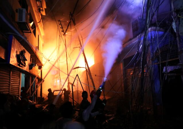 حريق في بنغلاديش