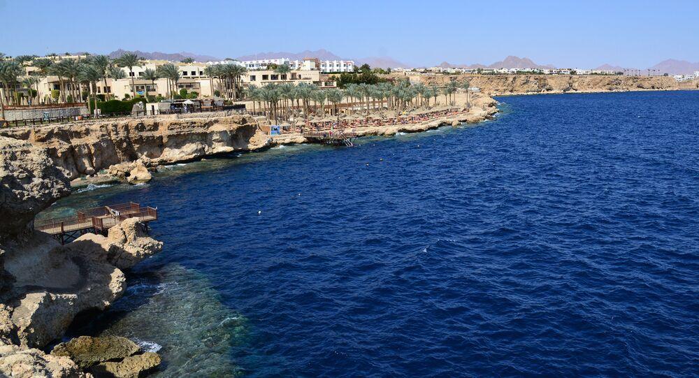 شاطئ من مدينة شرم الشيخ في مصر