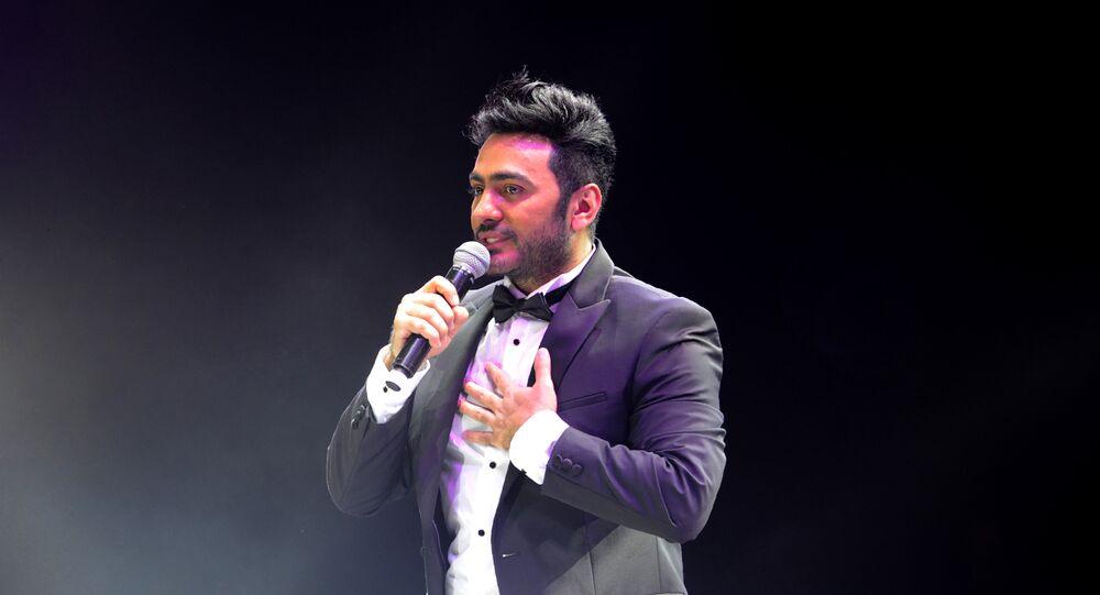 تامر حسني في حفله الأول في جدة في 30 مارس/آذار 2018