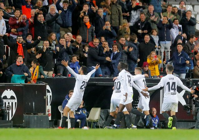 من مباراة ريال مدريد أمام فالنسيا في الدوري الإسباني