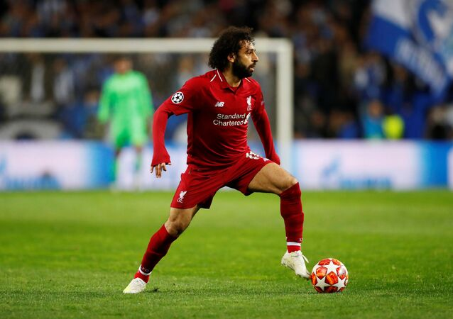 محمد صلاح في مباراة بورتو و ليفربول