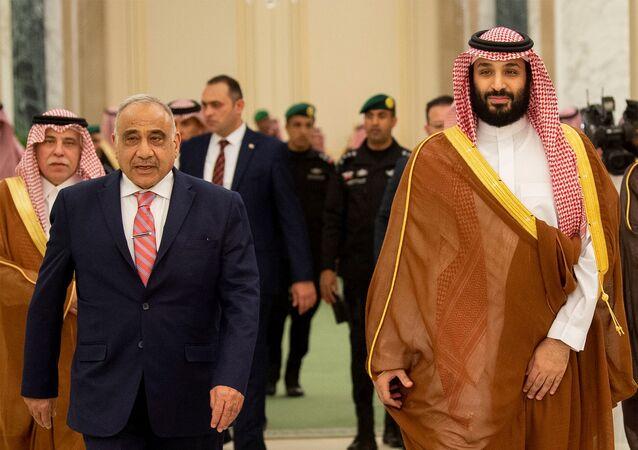 ولي العهد السعودي الأمير محمد بن سلمان ورئيس الوزراء العراقي عادل عبد المهدي