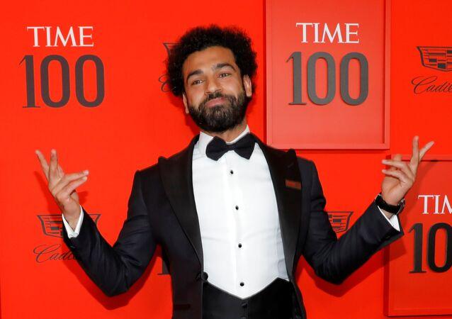 محمد صلاح، مهاجم وهداف ليفربول الإنجليزي والمنتخب المصري في حفل مجلة التايم الأمريكية