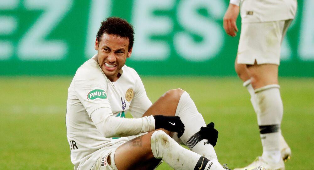 نيمار خلال نهائي كأس فرنسا بين باريس سان جيرمان وفريق رين