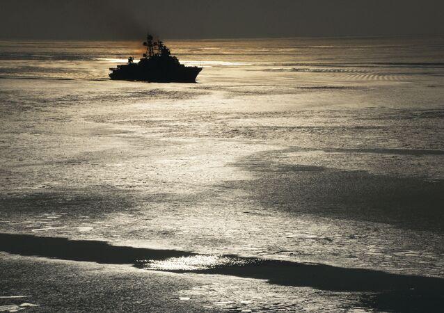 سفينة كبيرة مضادة للغواصات من أسطول المحيط الهادئ الروسي الأدميرال تريبوتس، 2017