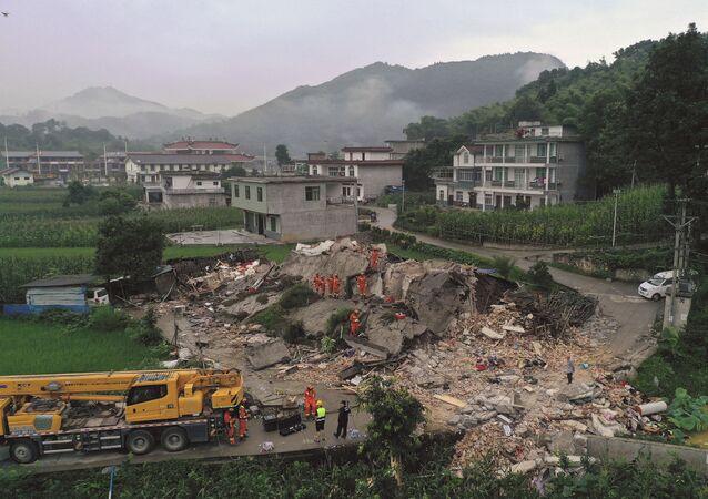 زلزال قوي يضرب مدينة إيبين، الصين 18 يونيو/ حزيران 2019