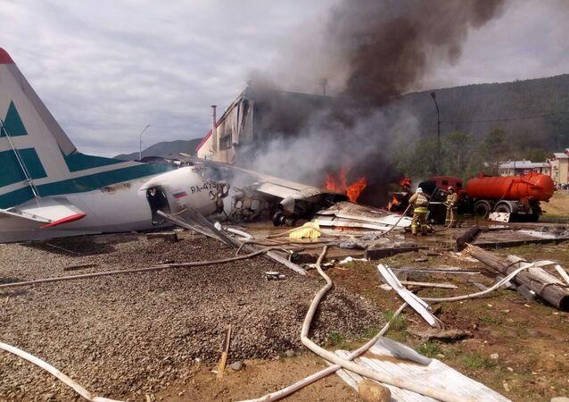 هبوط اضطراري لطائرة آن-24 في نيجني أنغارسك، أنغارا، روسيا