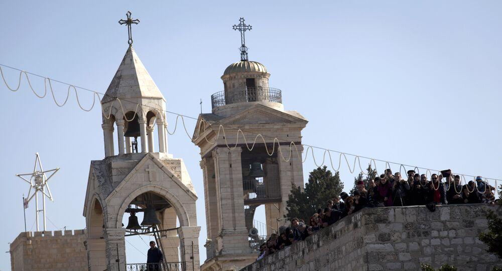 كنيسة المهد في بيت لحم في فلسطين
