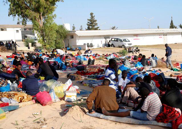 مركز الهجرة، المهاجرين الأفارقة في طرابلس، ليبيا 3 يوليو/ تموز 2019