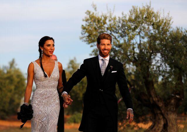 سيرجيو راموس في حفل زفافه، 15 يونيو/حزيران 2019