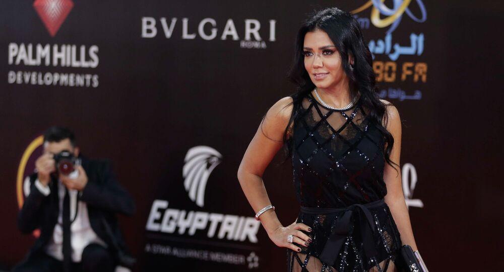 الممثلة المصرية رانيا يوسف في مهرجان القاهرة السينمائي الدولي الـ 40