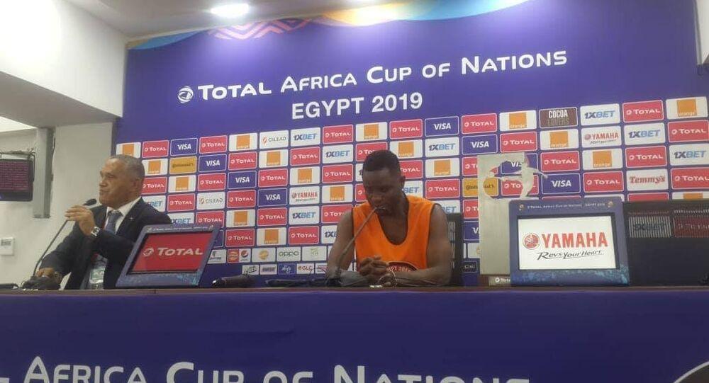 مبارك واكاسو لاعب خط وسط منتخب غانا