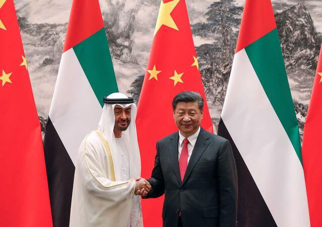 ولي عهد أبو ظبي محمد بن زايد آل نهيان و الرئيس الصيني شين جين بينغ