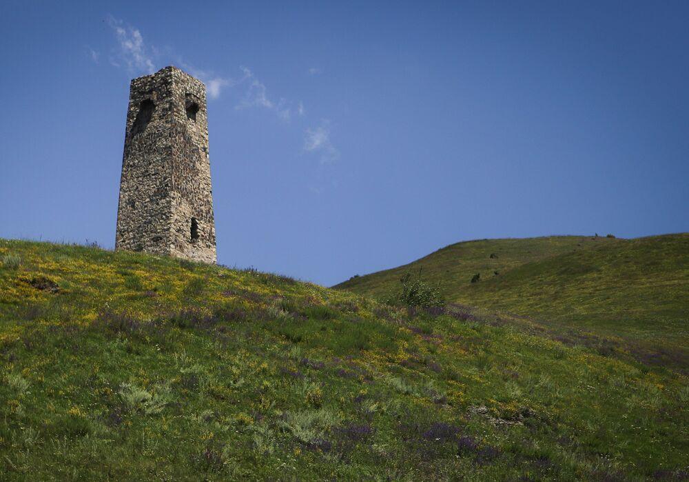 يوجد برج قديم بالقرب من مدينة الموتى، وهو مدفن يعود لزمن القرون الوسطى وفرع محلي للمتحف الوطني لأوسيتيا الشمالية بالقرب من قرية دارغافز، جمهورية شمال أوسيتيا الروسية - ألانيا.