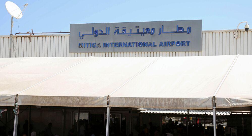 مطار معيتيقة الدولي في طرابلس في ليبيا