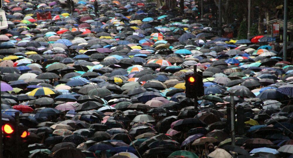 متظاهرون في هونغ كونغ، 2019