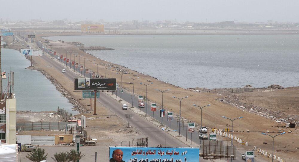 منظر يطل على مدينة عدن، اليمن 10 أغسطس 2019