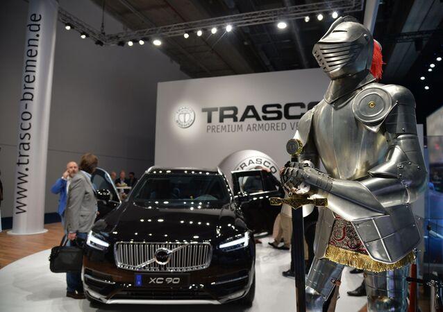سيارة فولفو إكس سي90 (Volvo XC90) في المعرض الدولي  للسيارات في فرانكفورت، ألمانيا 10 سبتمبر 2019