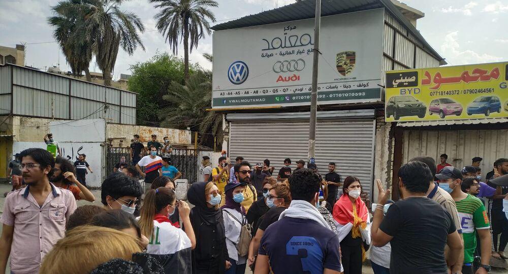 العراقييات يشاركن في تظاهرات بغداد، العراق 2 أكتوبر 2019