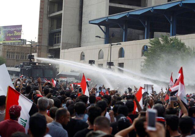بغداد تشتعل، تظارهات، مظاهرات، احتجاجت بغداد، العراق 2 أكتوبر 2019