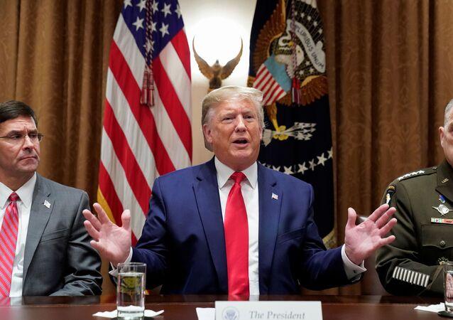 الرئيس الأمريكي دونالد ترامب، 7 أكتوبر 2019